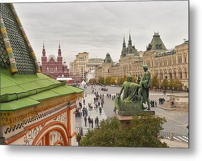 View Of Red Square In Moscow Metal Print by Aleksandr Volkov