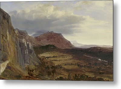 View Of Saleve, Near Geneva Metal Print by Theodore Rousseau