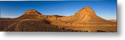 View Of Sand Dunes, Sahara Desert Metal Print