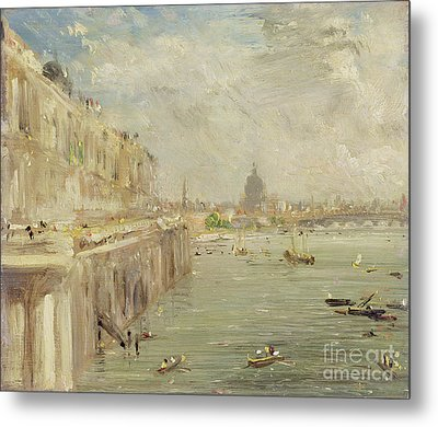 View Of Somerset House Terrace And St. Paul's Metal Print