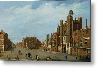 View Of St. James's Palace And Pall Mal Metal Print by William James