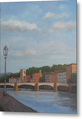 Metal Print featuring the painting View Of The Arno 2 by Jennifer Boswell