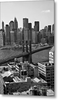 View Of The Brooklyn Bridge Metal Print