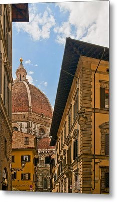 View Of The Duomo Metal Print