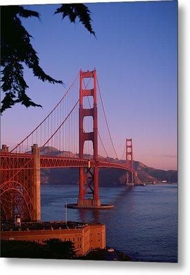 View Of The Golden Gate Bridge Metal Print by American School