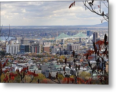 View Of The Jacques Cartier Bridge Metal Print by Reb Frost