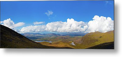 View Of The Kerry Landscape From Macgillycuddy's Reeks Metal Print by Semmick Photo