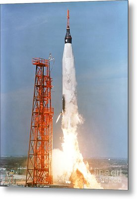 View Of The Liftoff Of Mercury-atlas 5 Metal Print