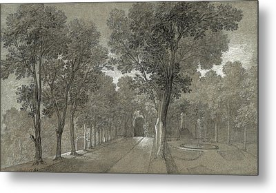View Of The Park At Arcueil Metal Print