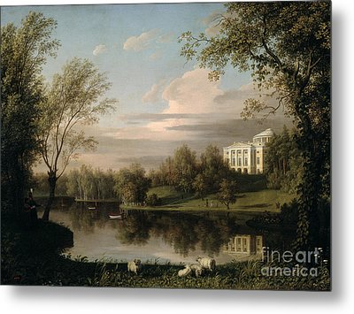 View Of The Pavlovsk Palace Metal Print by Carl Ferdinand von Kugelgen