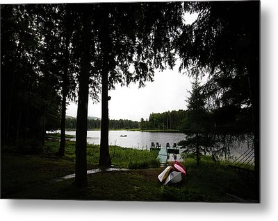 Metal Print featuring the photograph View Of The Pond by David Patterson