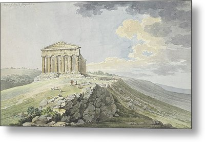 View Of The Temple Of Concord At Agrigento Metal Print