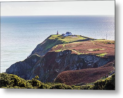 View Of The Trails On Howth Cliffs And Howth Head In Ireland Metal Print by Semmick Photo
