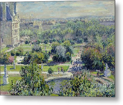 View Of The Tuileries Gardens Metal Print