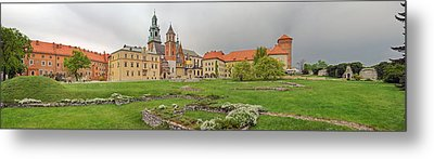 View Of The Wawel Castle With The Wawel Metal Print by Panoramic Images