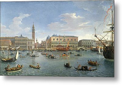 View Of Venice From The Island Of San Giorgio Metal Print by Gaspar van Wittel