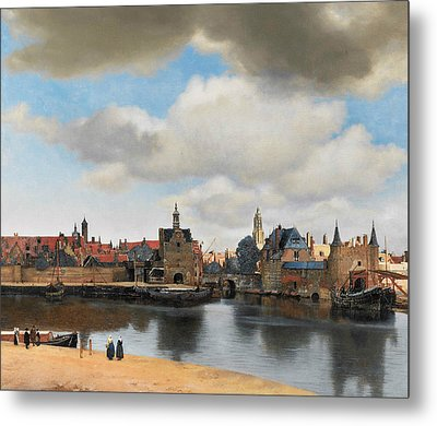 View On Delft Metal Print by Jan Vermeer