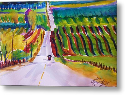 View On Lewis Hill Back Of Moms Ranch Metal Print by Therese Fowler-Bailey