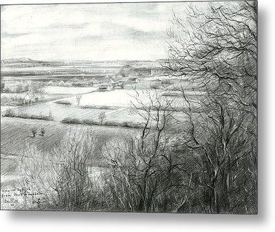 View On Zyfflich From Devil's Mountain - 04-04-15 Metal Print by Corne Akkers
