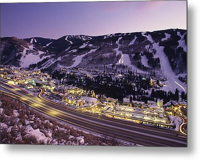 View Over I-70, Vail, Colorado Metal Print by Michael S. Lewis