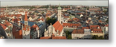 View Over Munich With Frauenkirche Metal Print by Greg Dale