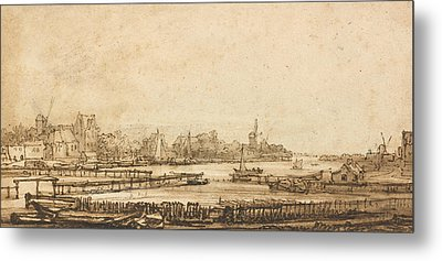View Over The Amstel From The Rampart Metal Print