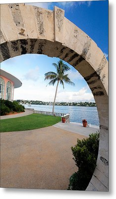 View Through A Moon Gate Metal Print by George Oze