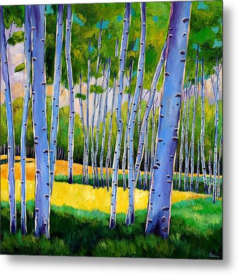 View Through Aspen Metal Print by Johnathan Harris