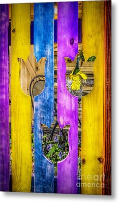 Metal Print featuring the photograph View Thru The Fence by Nick Zelinsky