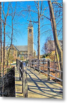 View To Mcgraw Tower Metal Print