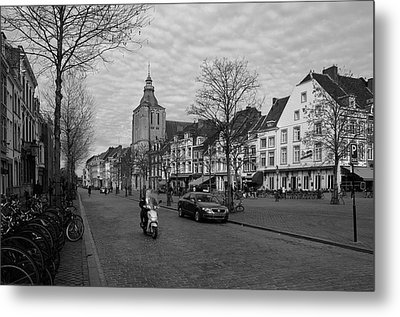 View To The Bosch Street In Maastricht Metal Print by Nop Briex
