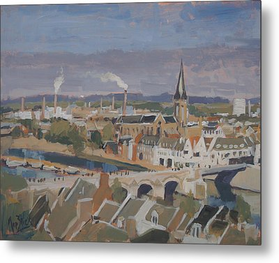 View To The East Bank Of Maastricht Metal Print