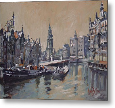 View To The Mint Tower Amsterdam Metal Print by Nop Briex