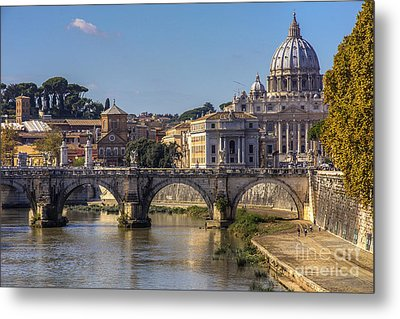 Metal Print featuring the photograph View Towards Saint Peter's Basilica by Spencer Baugh