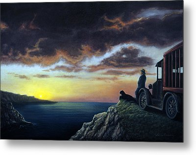 Viewing The Bay Metal Print by Lance Anderson