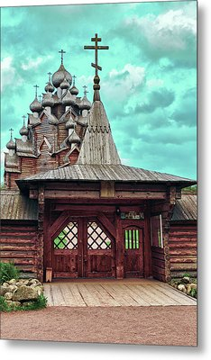 views of Holy gates and Church of the Intercession of the blessed virgin Mary Metal Print