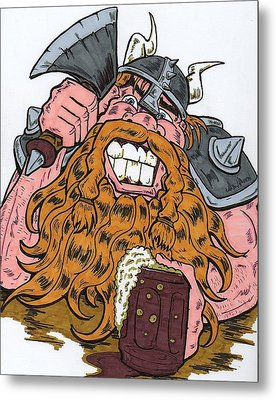 Viking Metal Print by Anthony Snyder