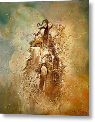 Metal Print featuring the painting Viking Raider by Steve Roberts