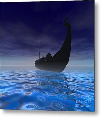Viking Ship Metal Print by Corey Ford