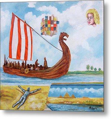 Vikings Metal Print by Rudolf  Zamazal