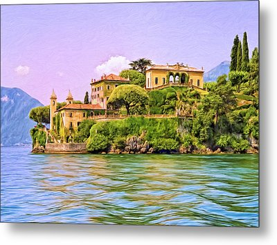 Villa On Lake Como Metal Print by Dominic Piperata