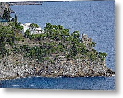 Villa Owned By Sophia Loren On The Amalfi Coast In Italy Metal Print by Richard Rosenshein