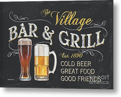 Village Bar And Grill Metal Print by Debbie DeWitt