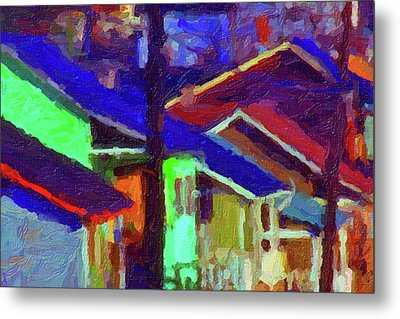 Village Houses Metal Print