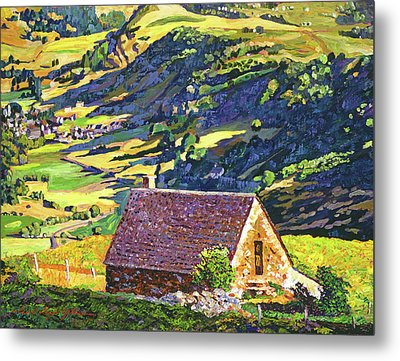 Village In The Valley Metal Print by David Lloyd Glover