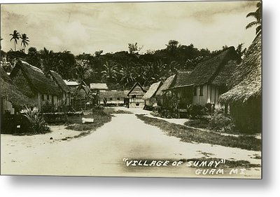 Metal Print featuring the photograph Village Of Sumay Guam by eGuam Photo