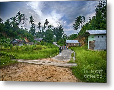 Metal Print featuring the photograph Village Scene by Charuhas Images