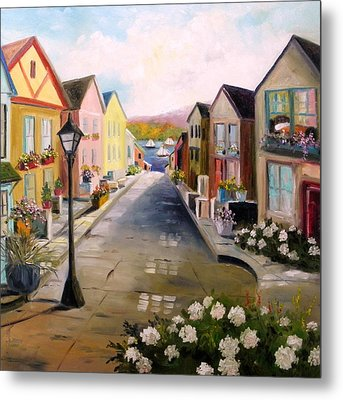 Metal Print featuring the painting Village Street by John Williams