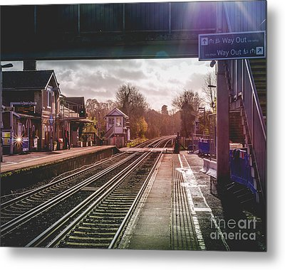 The Village Train Station Metal Print