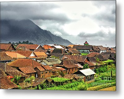 Metal Print featuring the photograph Village View by Charuhas Images